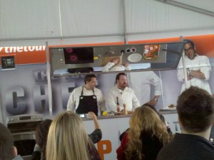Kevin Gillespie and Mike Isabella at the Chicago stop of the Top Chef Tour